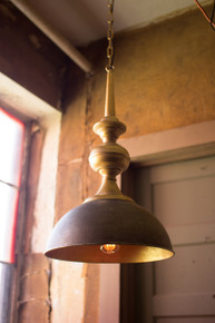 METAL PENDANT LIGHT WITH ANTIQUE GOLD FINISH