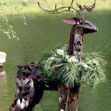 "SCRAP IRON DEER SCULPTURE - 64""h"