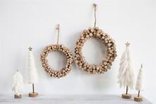 """Birch Peg Wreath - 12""""d or 16""""d"""