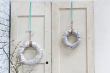 "Birch Bark Wreath - 9.5 "", 13.5"" & 17.5""d"