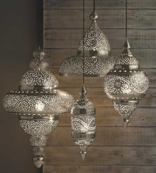 Set of 3 Moroccan Hanging Lanterns
