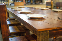 Reclaimed Farm House Table Set with Chairs - 10 ' Table w/ 10 chairs