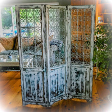 Large Farmhouse Antique Partition Folding Screen