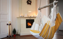 Hammock Chair Yellow - White
