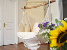 Hammock Chair Beige - Striped