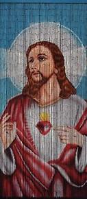 Jesus Bamboo Beaded Curtain