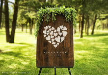 Custom Wood Wedding Sign - Heart