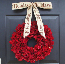 Hydrangea Holiday Wreath
