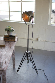 BRASS FINISH STUDIO FLOOR LAMP