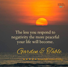 The less your respond to negative people .... #Quotes