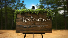 Custom Welcome to Our Happily Ever After Sign, Large Rustic Wood Sign, Wood Welcome Sign, Wedding Gift