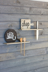 WOODEN STIR SPOON or KNIFE RACK