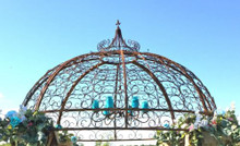 Wrought Iron Gazebo Top Section - custom sizes, styles available
