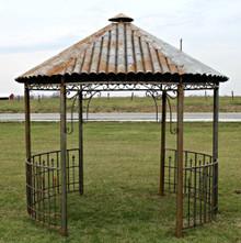 Antique Rustic Pavillion Gazebo