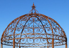Ornate Wrought Iron Gazebo Top Section - custom sizes, styles available