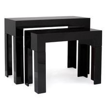 Connor Nested Console Table, Set of two - Gloss Black