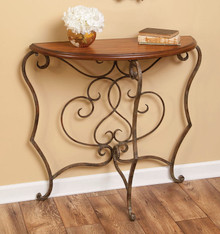 Demi Lune Wall Hall Table