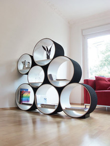 Flexi Tube Shelving System / Room Divider - custom orders / colors available
