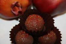 Sweet Pomegranate Chocolate Cake Truffles - One Dozen