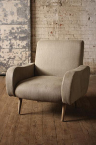 Herringbone Fabric Upholstered Arm Chair