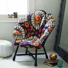 Ariel Rococo Shell Chair in Suzani Print