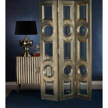 Casablanca Metal and Glass Divider