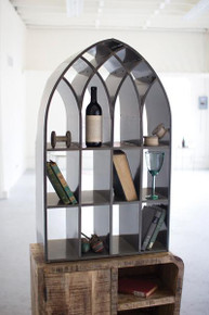 CHURCH WINDOW CUBBY \ RAW METAL