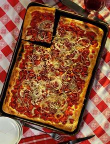 Sicilian Style Pizza - (Free Recipe below)