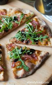 Prosciutto and Fig Pizza with Arugula - (Free Recipe below)