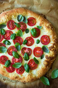 Four Cheese Caprese Pizza - (Free Recipe below)