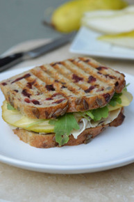 Brie, Roasted Turkey, & Pear Panini - (Free Recipe below)