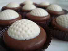 Milk Chocolate Dipped Oreo Cookies Golf Ball Chocolates - One Dozen
