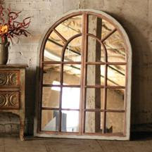 Large Arched Multi Windowed Mirror