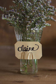 Glass Photo Vase Place Card Holder