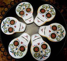 Day of the Dead Cookies Halloween - One Dozen