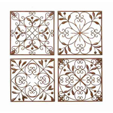 "Set of 4 Metal Wall Grilles - 14"" square each"