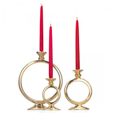 'O' Candleholders - Silver or Gold