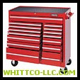 RED 15 DRAWER WORKSTATION 41X42"