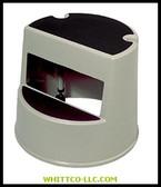 "13""HX16""DIA STEP STOOL BLACK 2BK 640-2523-BK WHITCO Industiral Supplies"