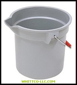 14QT BRUTE BUCKET|2GRAY|640-2614-GRAY|WHITCO Industiral Supplies