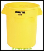 32GAL W/O LID BRUTE CONTAINER TRASH CAN YELLOW|2YEL|640-2632-YEL|WHITCO Industiral Supplies