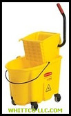 YELLOW MOPPING BUCKET AND WRINGER COMBO PACK|788|640-7580-88|WHITCO Industiral Supplies