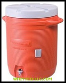 7 GAL ORANGE PLASTIC WATER COOLER 1655|101-11|325-1655-01-11|WHITCO Industiral Supplies
