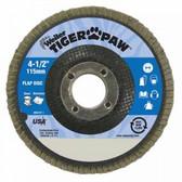 """4-1/2"""" TIGER PAW ABRASIVE FLAP DISC- FLAT- - 60Z"""