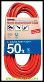 14/3 50' ORANGE EXTENSION CORD   Sold ON  860-626