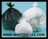 L32389CF trash bags clear and black can liners WHITTCO Industrial supplies