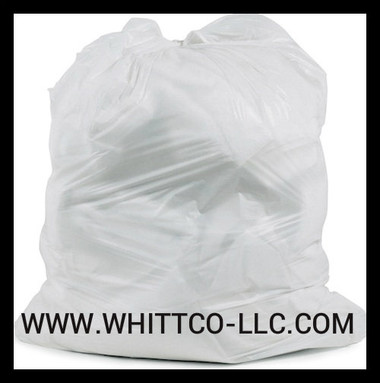 L33397WR White trash bags - can liners - WHITTCO Industrial supplies