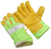 3M fluorescent tape   wing thumb   green nylon back & safety cuff   size XL GHV64BT-XL