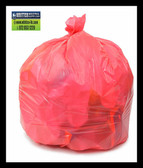 PC46XPR  RED 40x46 .9 mil can liners 100 bags Environmentally Preferred Can Liners