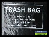 compactor station bags black 2.5 mil BB50 fits big belly & others - non oem